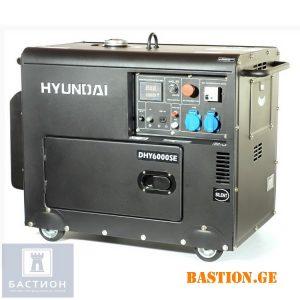Дизельный электрогенератор HYUNDAI DHY 6000SE 5,5 кВт